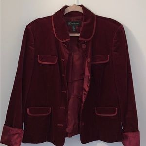 Dark Red INC Jacket with silk interior